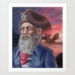 Captain Blindeye Art Print
