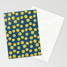 Blue Summer Lemons Stationery Cards