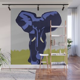 Vintage Visit the Zoo Elephant Wall Mural