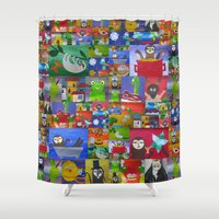 sloths Shower Curtains featuring sloths by Cathy Jacobs