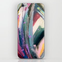 Eye of the Beholder [4]: a colorful, vibrant abstract in purples, blues, orange, pink, and gold iPhone Skin