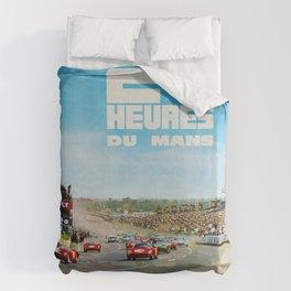 1965 Le Mans poster, Race poster, car poster, garage poster Duvet Cover