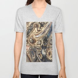 pearls into the mirror Unisex V-Neck