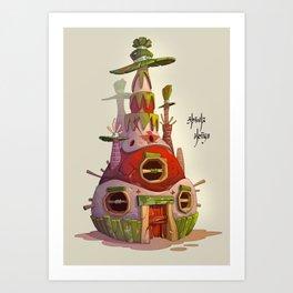 Piñata House Art Print