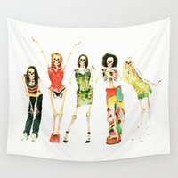 spice Wall Tapestries featuring Spice Skulls Tee! by Eric Terino