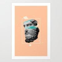 mythology Art Prints featuring Mythology by Enrique Larios