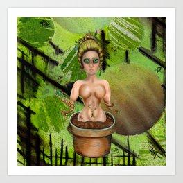 Flowerpot femme Art Print