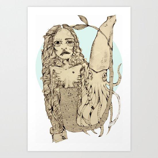 Squidy-Alternative one Art Print