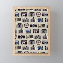 Vintage Cameras - Photography Pattern Framed Mini Art Print