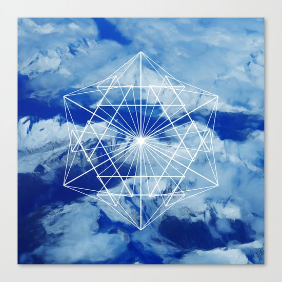 Mountains, Clouds and Geometry Canvas Print