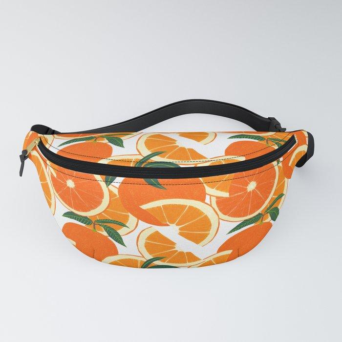 Orange Harvest - White Fanny Pack