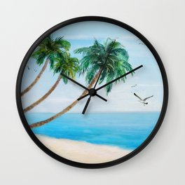 Palm Trees 2 Wall Clock