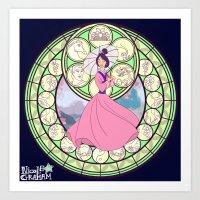mulan Art Prints featuring Mulan by NicoleGrahamART