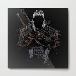 Geralt of Rivia - The Witcher Metal Print