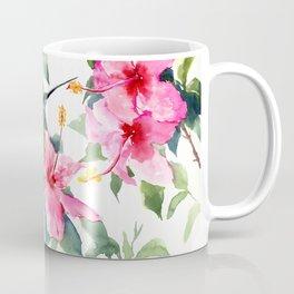 Hibiscus and Hummingbird, Hawaiian Aloha, birds and flowers design Coffee Mug