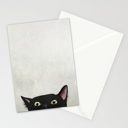 Curious Black Cat Stationery Cards