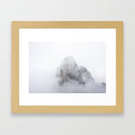 Clouds in Huangshan Framed Art Print