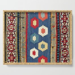 Sarab Khorjin Azerbaijan  Antique Tribal Persian Rug Print Serving Tray