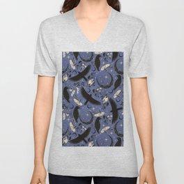 Raven Tarot Blue Unisex V-Neck