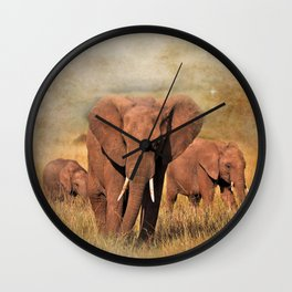 Family Walk Wall Clock
