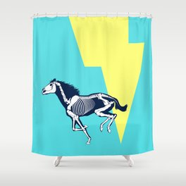 Electro Horse Shower Curtain