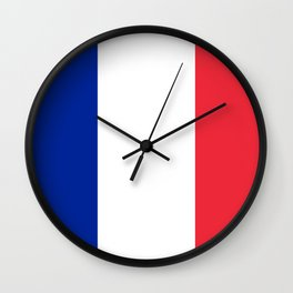 Flag of France, Authentic color & scale Wall Clock