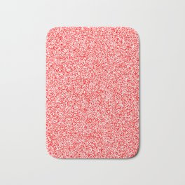 Spacey Melange - White and Red Bath Mat