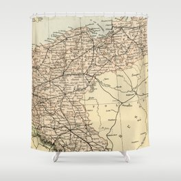 Old Map of Germany Shower Curtain