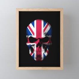 UK Flag Skull Art Framed Mini Art Print