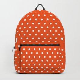 Modern orange white autumn polka dots Backpack