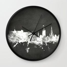 Edinburgh Scotland Skyline Wall Clock