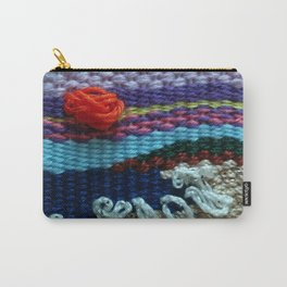 mini tapestry, weaving, Taito beach, Chiba, Japan, surf, surfing, surfing art, surf art, Carry-All Pouch
