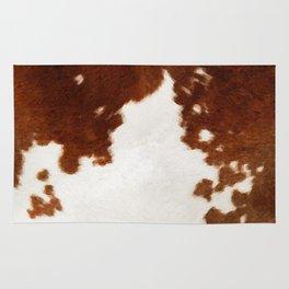 brown cowhide watercolor Rug