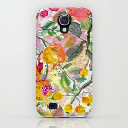 Pomegranate, Fruit and Flowers iPhone Case