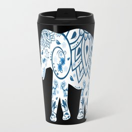 Decorated Elephant With Butterfly Travel Mug