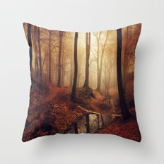 Forest Creek At Sunrise Throw Pillow