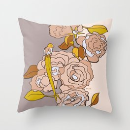 All we need is roses Throw Pillow