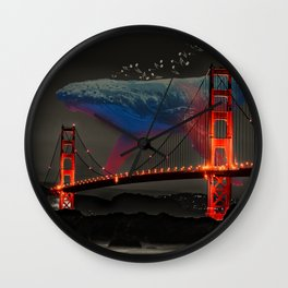 Giant Whale Music Wall Clock