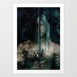 warrior inside Art Print