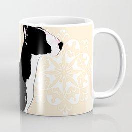 English Bull Terrier Dog in black Coffee Mug