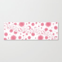Pink Florals Canvas Print