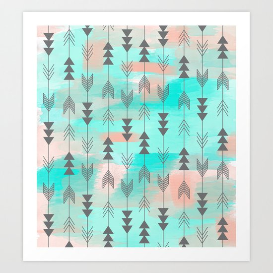 Watercolor Arrows Art Print