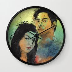 Gidget and Nino Wall Clock