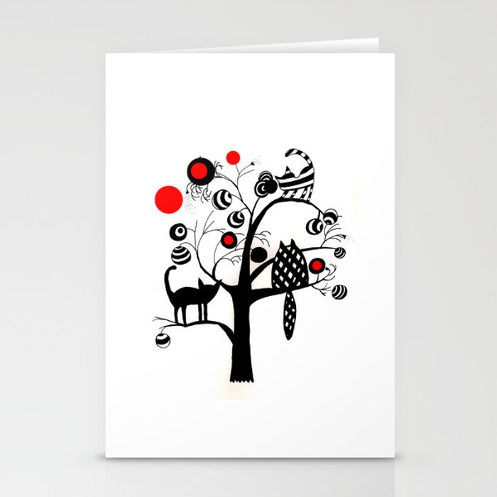cats and fruits Stationery Cards