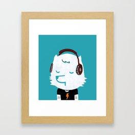 Metal Rock Dog Framed Art Print