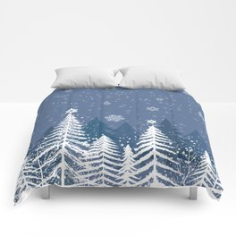Winter Snow Forest Comforters