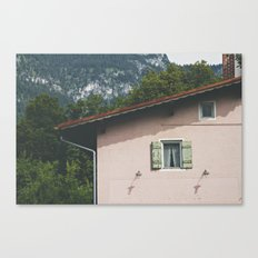 Pink Alpine House Canvas Print