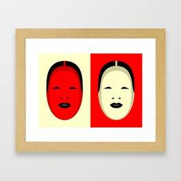 Noh, Ephemera (from Studio Glmn archives) Framed Art Print