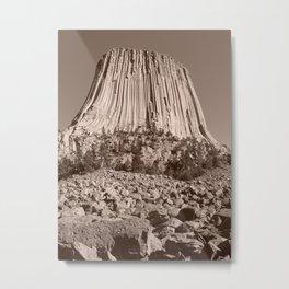 Devils Tower Metal Print