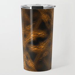 Gold fantasy pattern Travel Mug